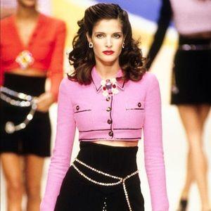 Iconic Chanel Vintage Spring 1995 Pink Jacket